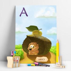Poster Arici din colectia ABC-ul Animalelor