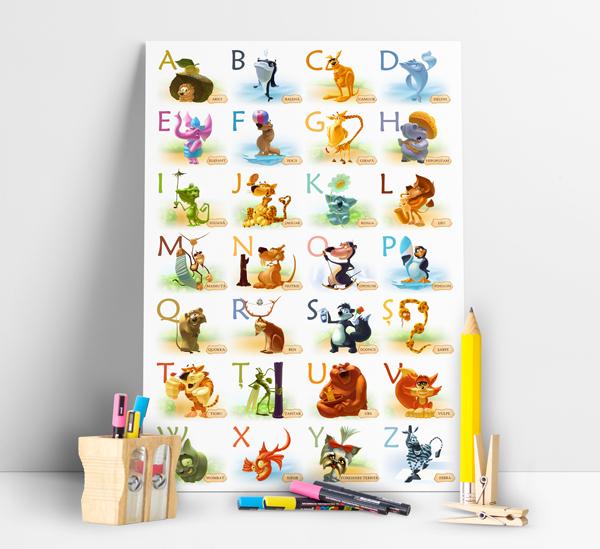 Poster ABC-ul Animalelor