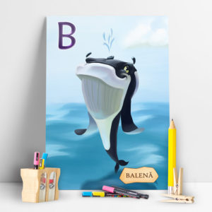 Poster Balena din colectia ABC-ul Animalelor